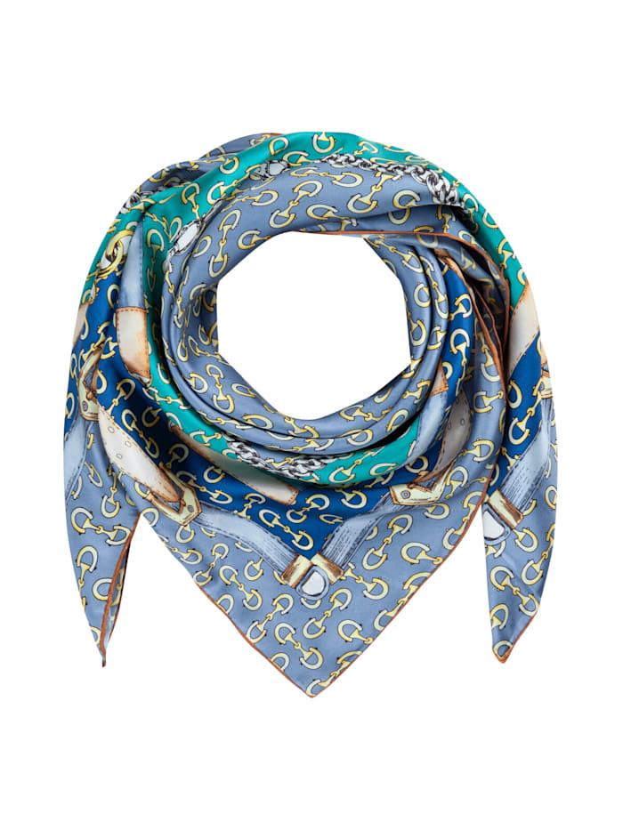 Codello Großes Seidentuch mit elegantem Foulard-Dessin, jeans blue