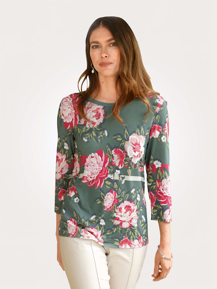 MONA T-shirt à imprimé numérique, Vert sapin/Baies