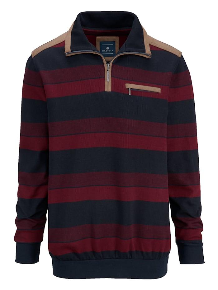 Sweatshirt mit weichen Veloursbesätzen
