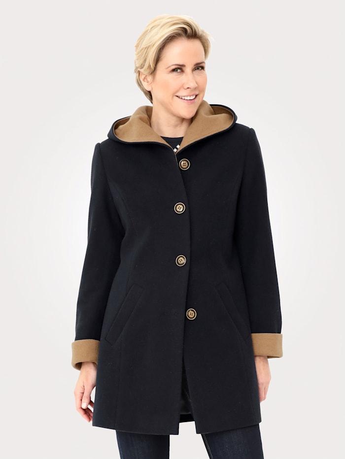 MONA Vlněný kabát s podílem vlny, Námořnická