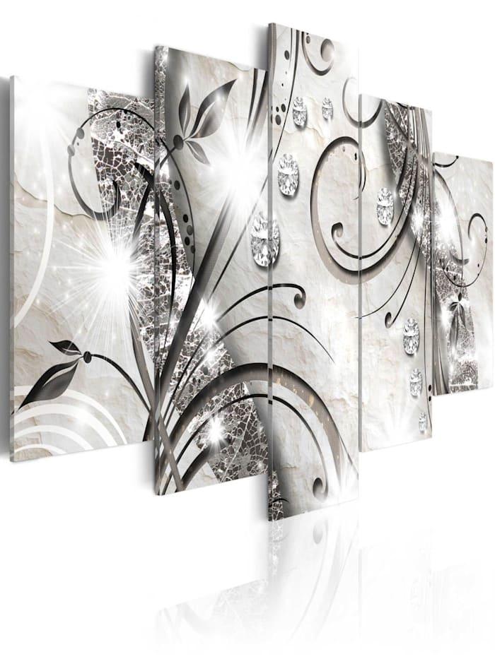 artgeist Wandbild Diamond twig, Beige,Perle