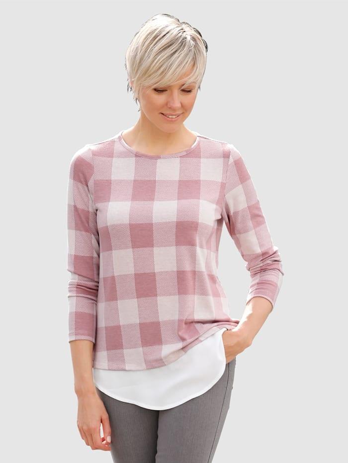 Shirt mit Bluseneinsatz