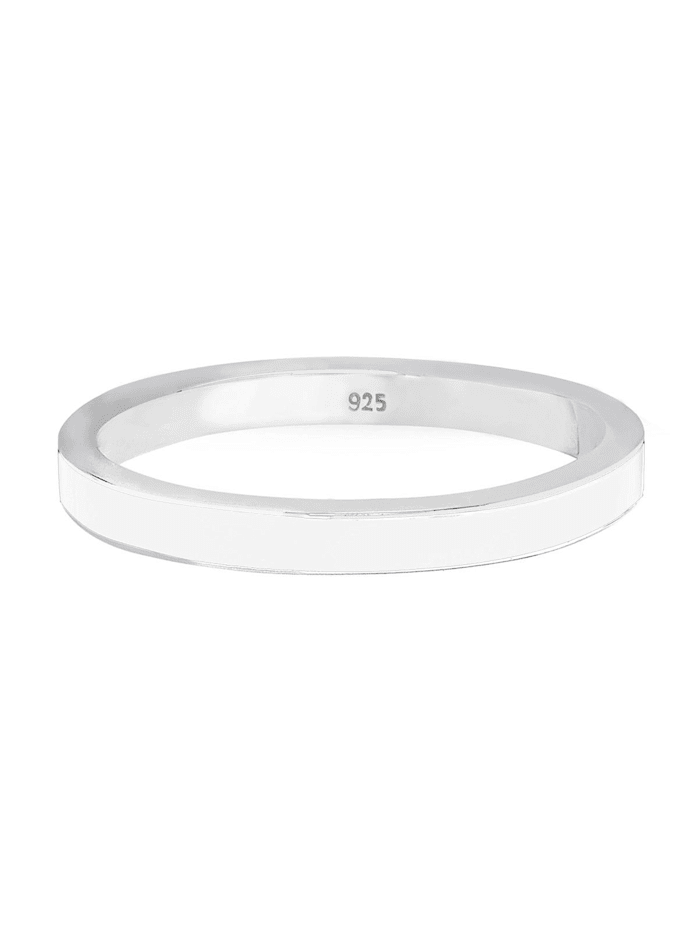 Ring Stapelring Basic Emaille 925 Silber