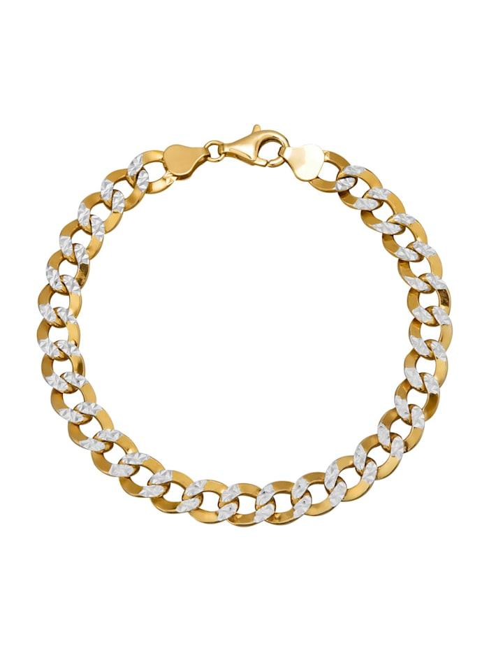 Bracelet maille gourmette en argent 925, doré, Coloris or jaune