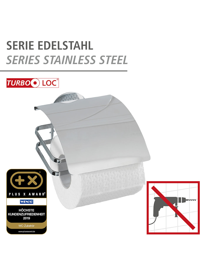 Turbo-Loc® Edelstahl Toilettenpapierhalter Cover, rostfrei, Befestigen ohne bohren