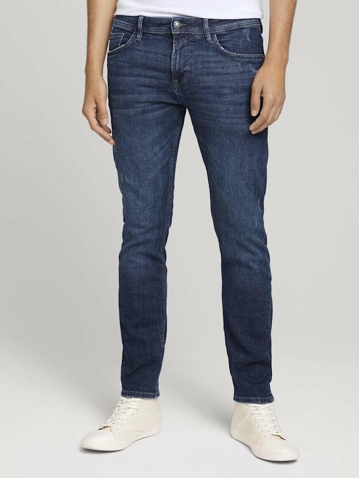 Tom Tailor Denim Slim Piers Jeans, destroyed dark stone blue deni