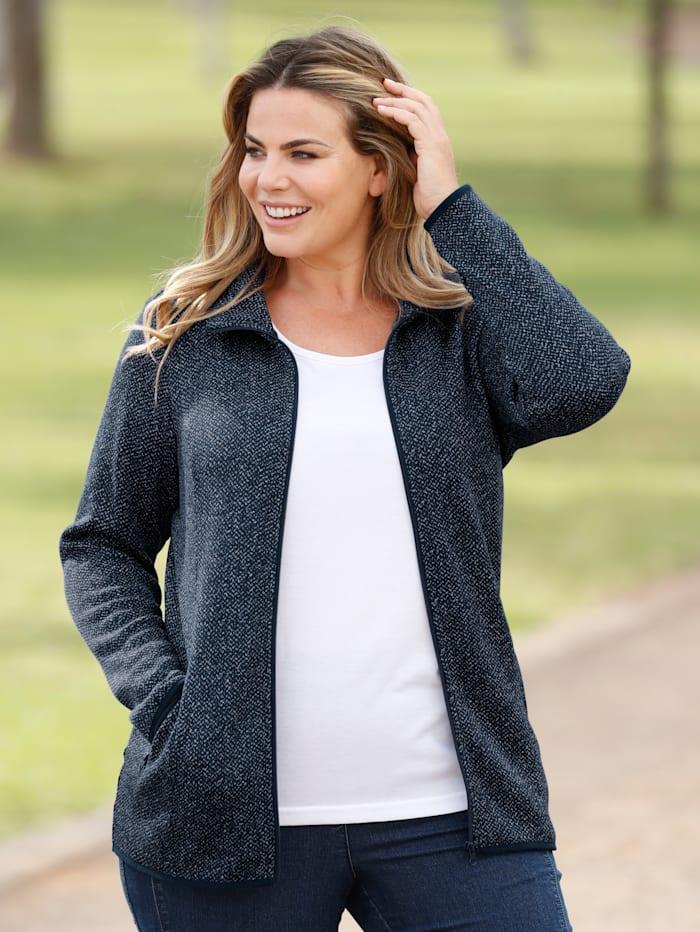 m. collection Fleece vest met zachte binnenkant, Blauw