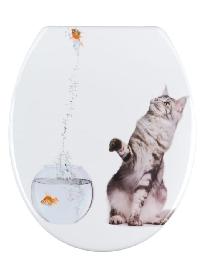Wenko WC-Sitz Jump, Mehrfarbig, Befestigung: Silber matt