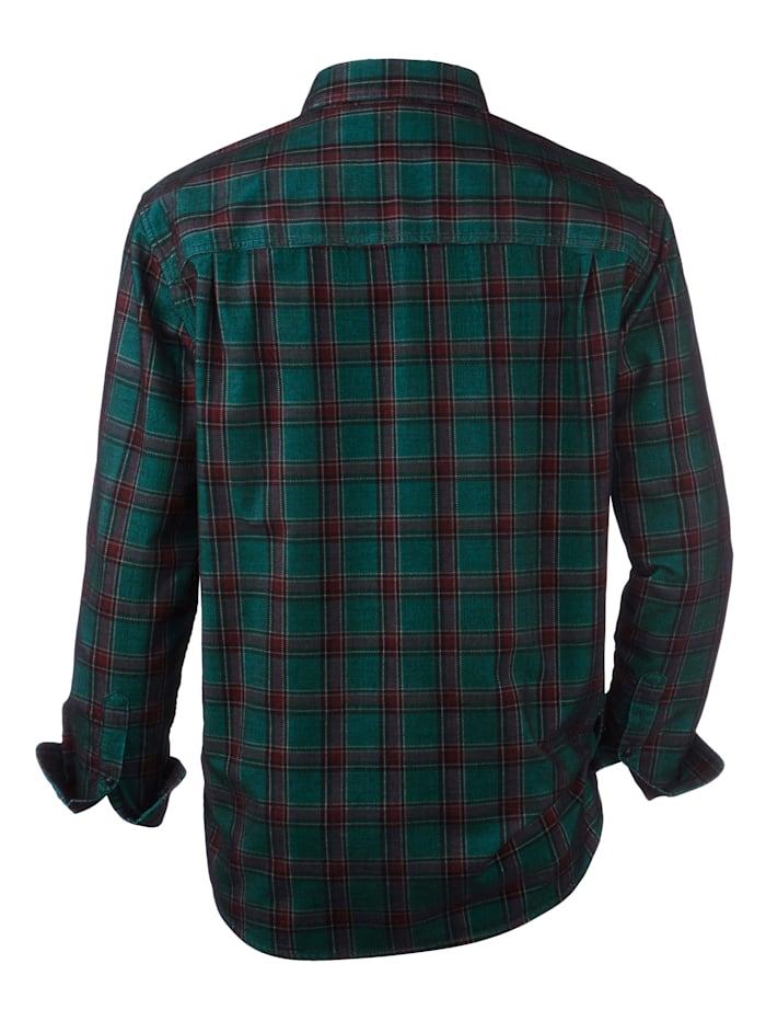 Kordová košeľa so zamatovou štruktúrou