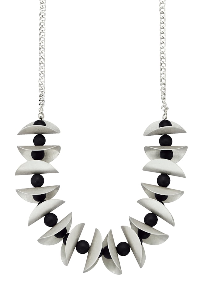 Necklace with embellishments, Silver-Coloured