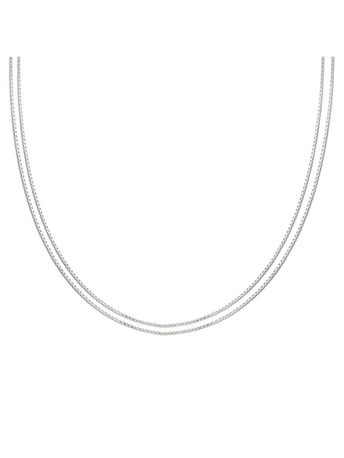 CAI Collier 925/- Sterling Silber ohne Stein 45cm Glänzend, weiß