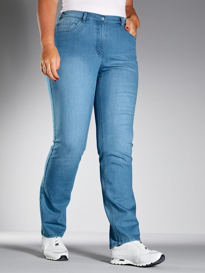 MIAMODA Jeans im 5-Pocket-Style, Blue bleached
