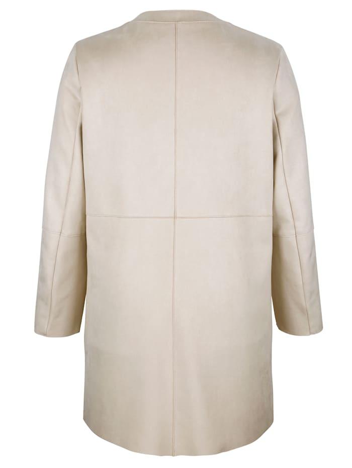Veste longue à encolure féminine