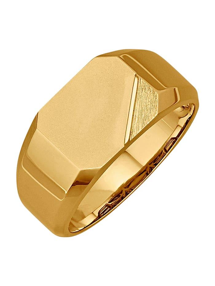 Diemer Gold Herrenring in Gelbgold 585, Gelbgoldfarben