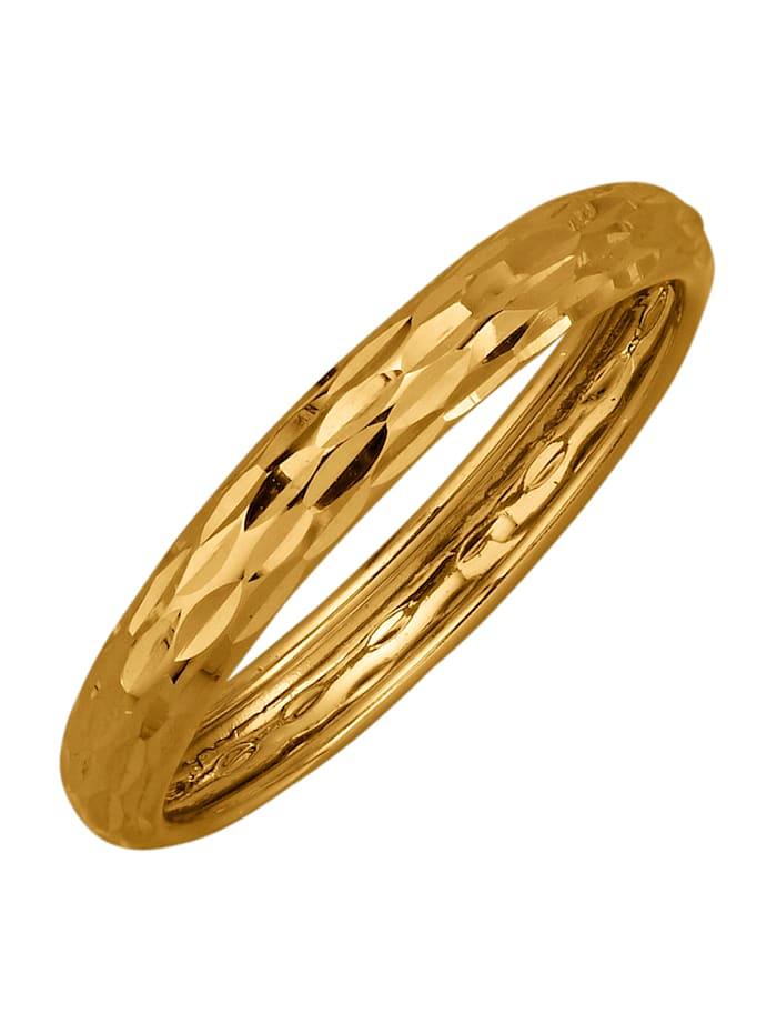 Damenring in Gelbgold 585, Gelb