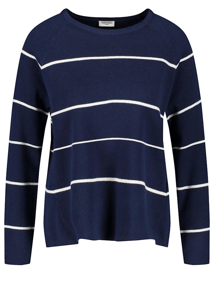Geringelter Oversize-Pullover
