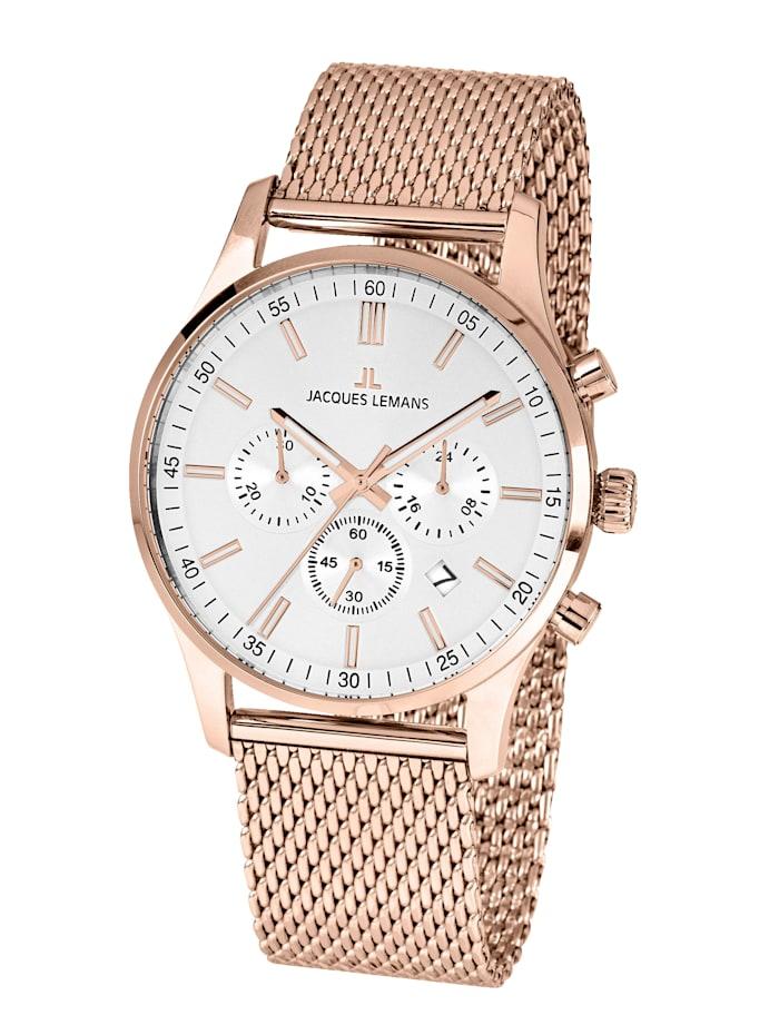 Jacques Lemans Herren-Uhr Chronograph Serie: London, Kollektion: Classic: 1- 2025J, Rosé