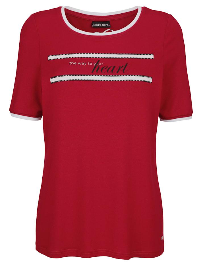 Shirt met steentjes voor