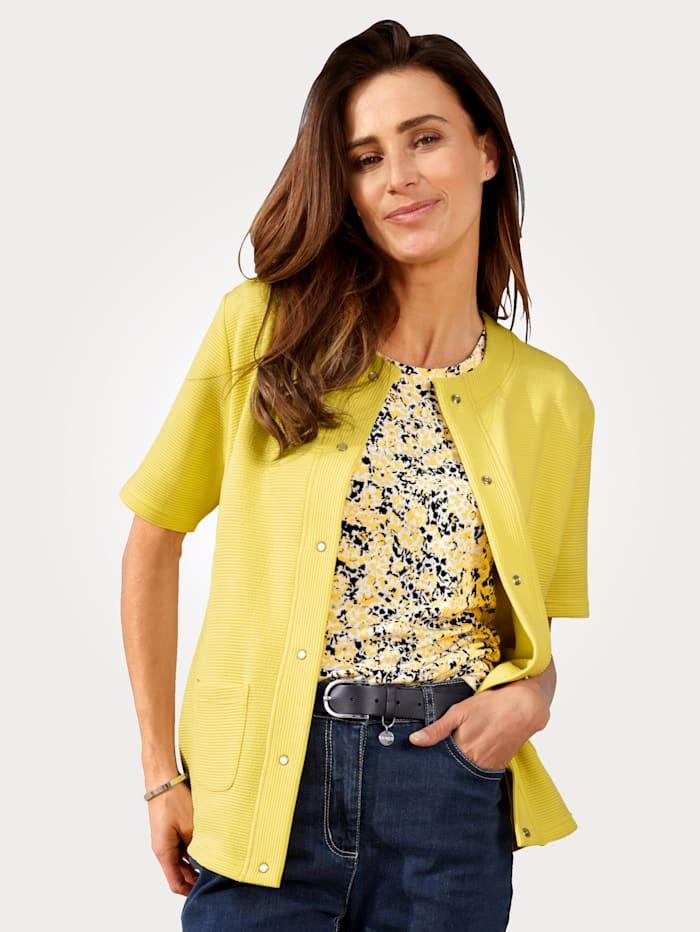 MONA Shirtjacke mit Struktur, Gelb