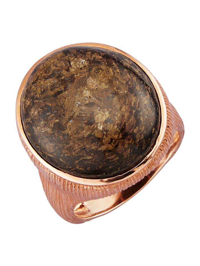 Ring med bronsit, Brun