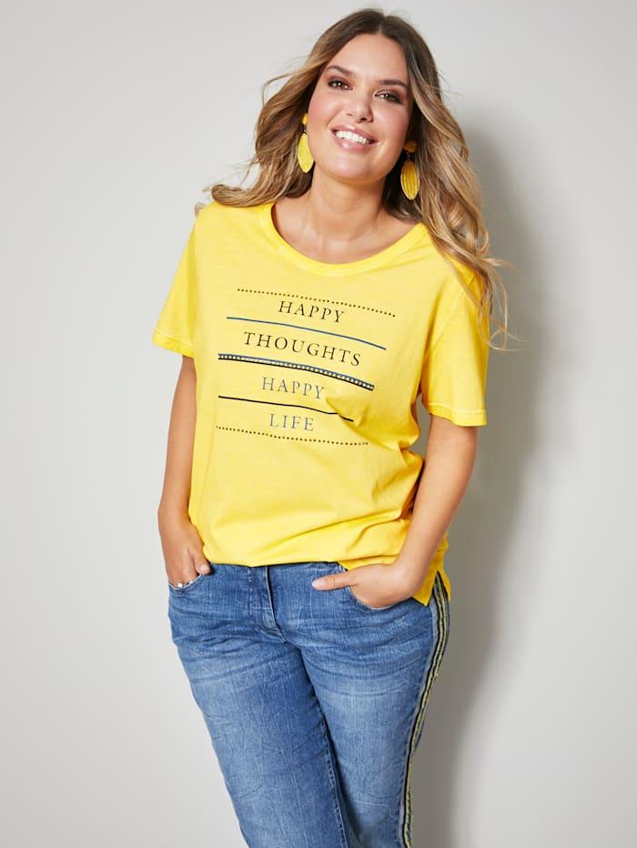 Janet & Joyce Shirt van zuiver katoen, Geel