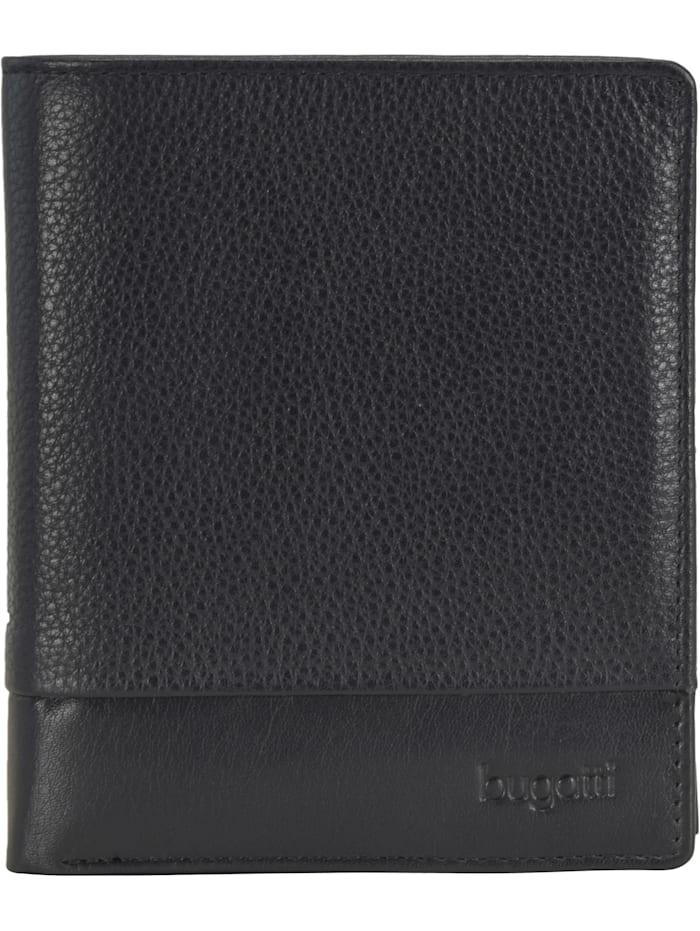 Bugatti Atlanta Geldbörse Leder 11 cm, schwarz