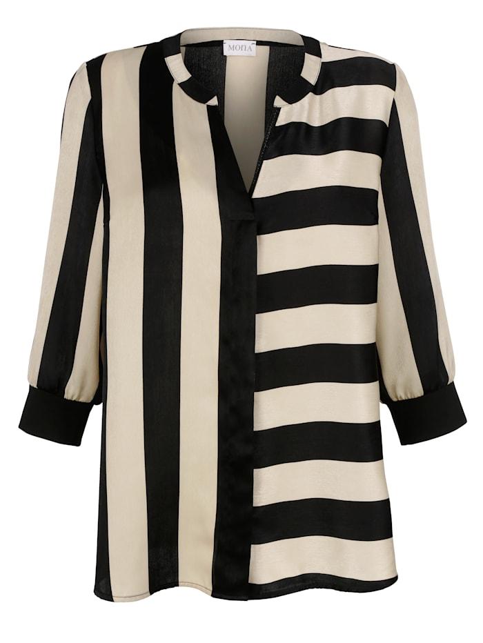 Bluse mit Streifen-Muster