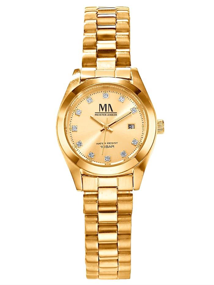 Meister Anker Women's quartz watch, Yellow gold coloured