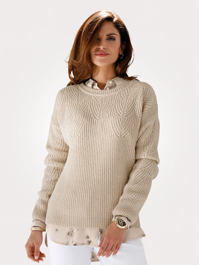 MONA Pull-over à fil brillant, Beige