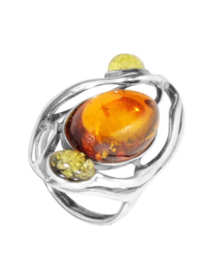 OSTSEE-SCHMUCK Ring - Asta - Silber 925/000 - Bernstein, silber