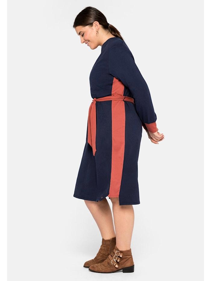 Sheego Kleid mit Kontraststreifen