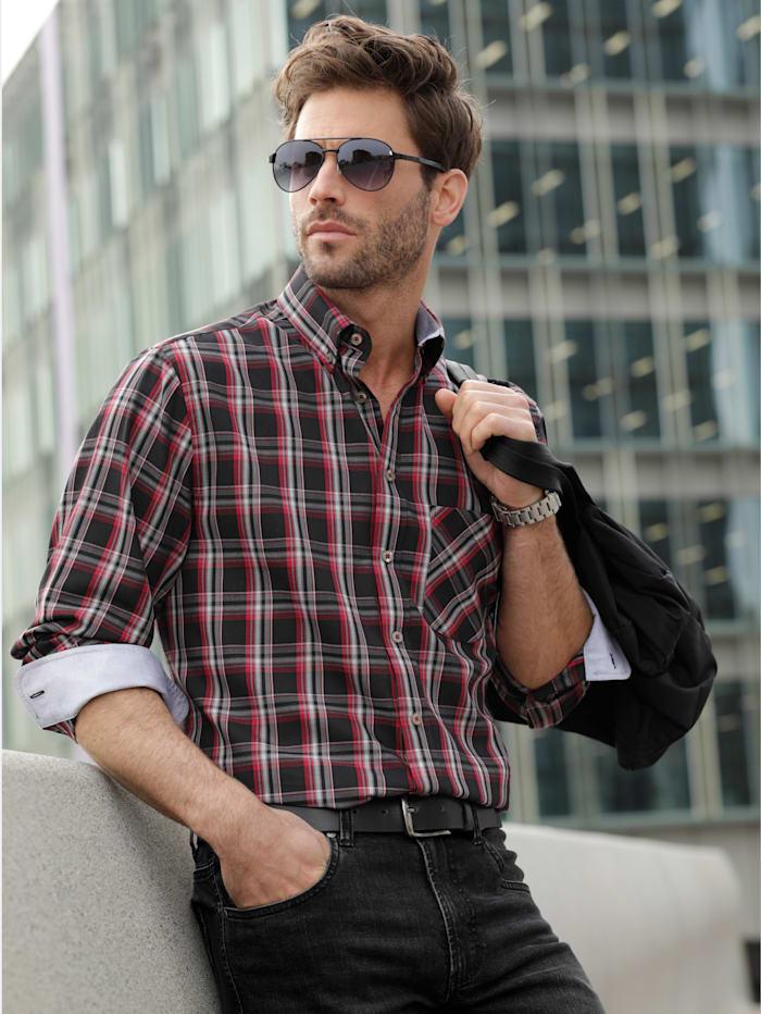 BABISTA Hemd aus reiner Baumwolle, Schwarz/Rot