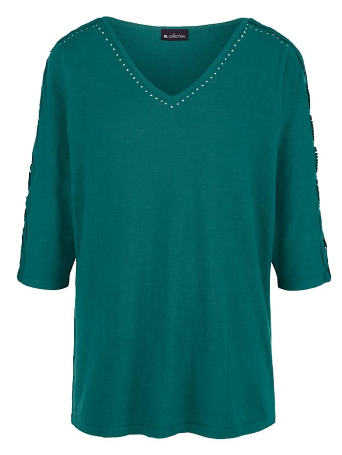 m. collection Tröja av mjukt material, Smaragd