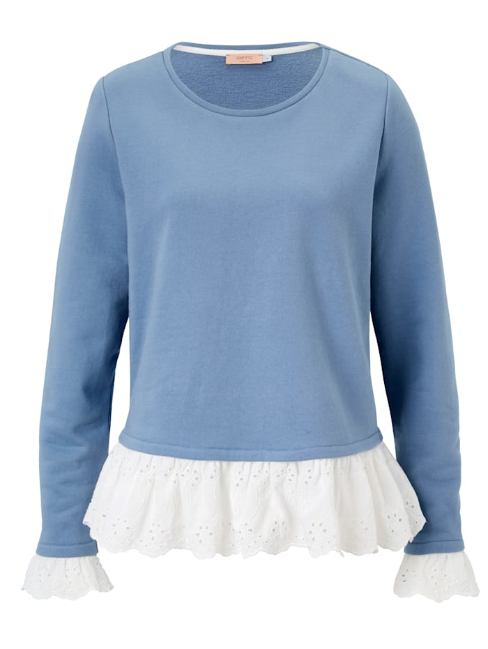 SIENNA Sweatshirt, Grau/Blau