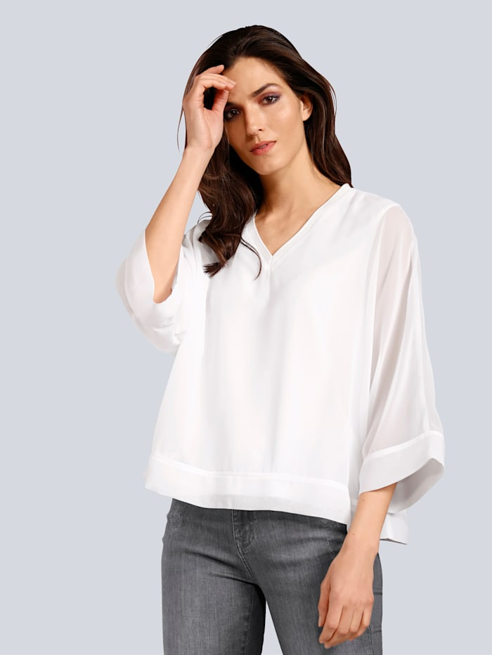 JETTE JOOP Blusenshirt in modischer 2-in1-Optik, Off-white