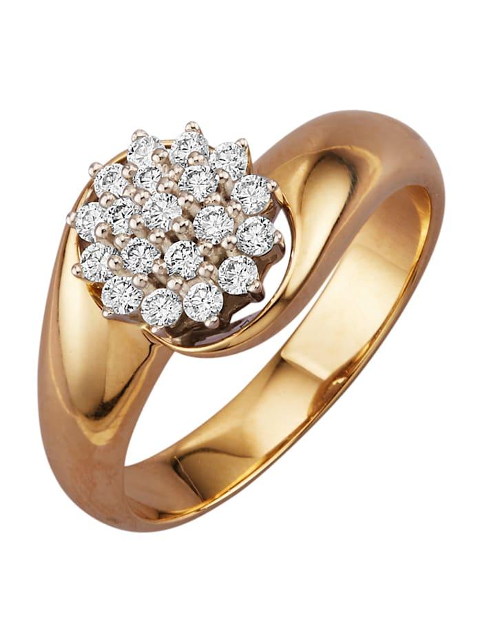 Diemer Diamant Bague avec brillants, Blanc