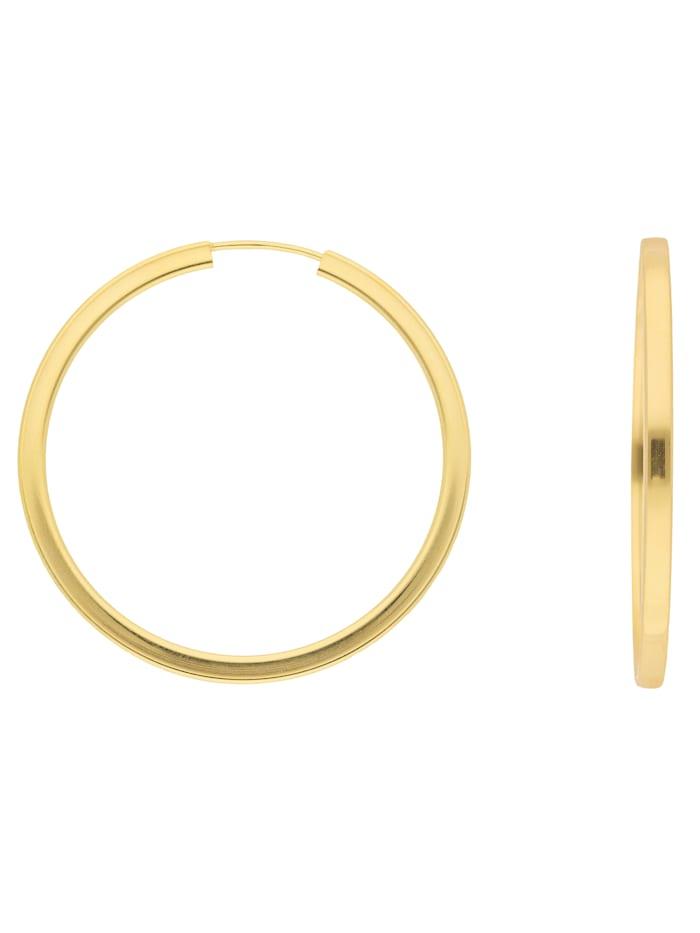 1001 Diamonds 1001 Diamonds Damen Goldschmuck 333 Gold Ohrringe / Creolen Ø 38 mm, gold