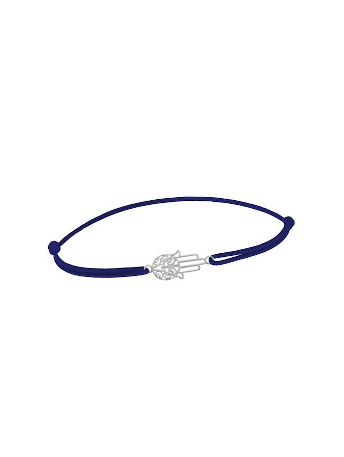 1001 Diamonds Armband Fatimas Hand 925 Silber DBL dunkelblau, dunkel blau