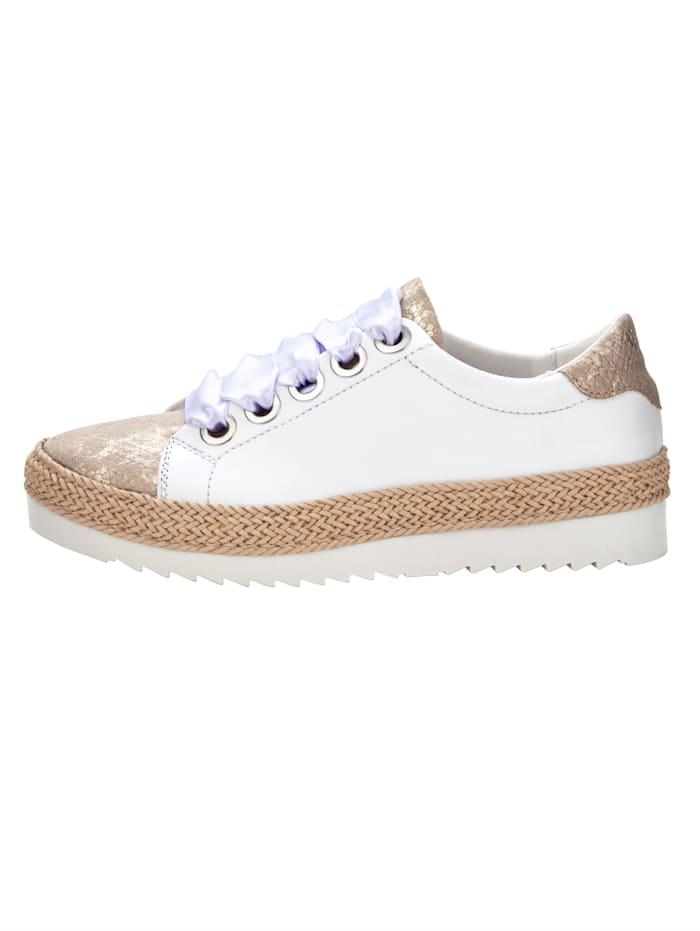 Sneakers à motif croco aux reflets changeants