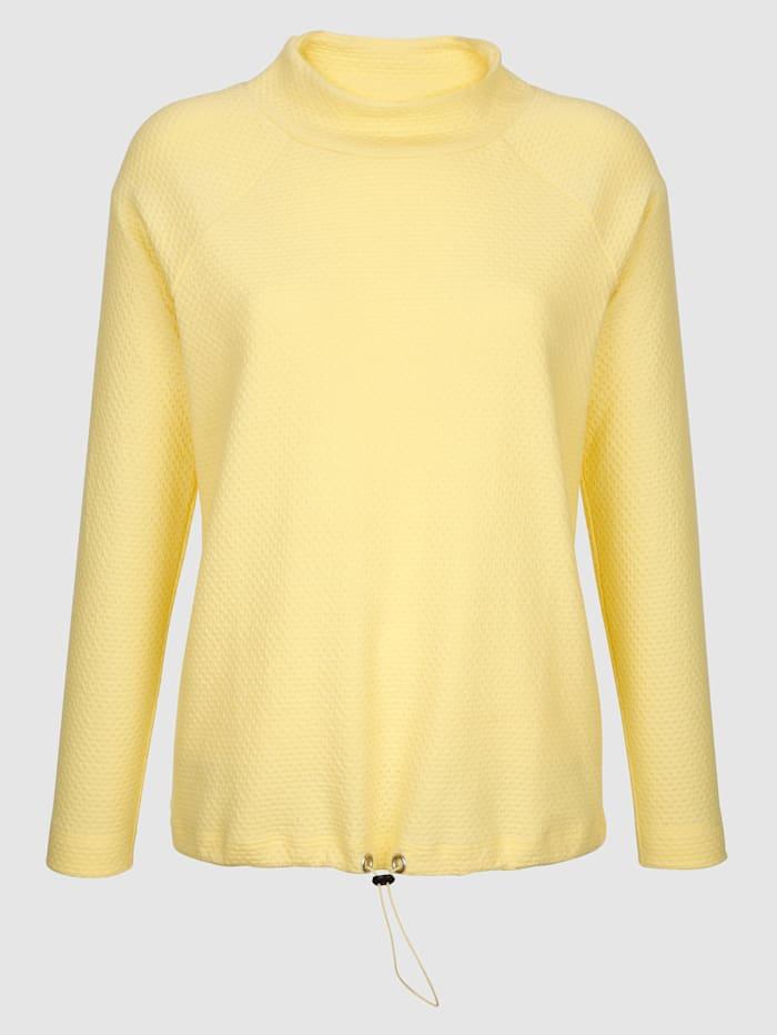 Sweat-shirt en belle matière structurée