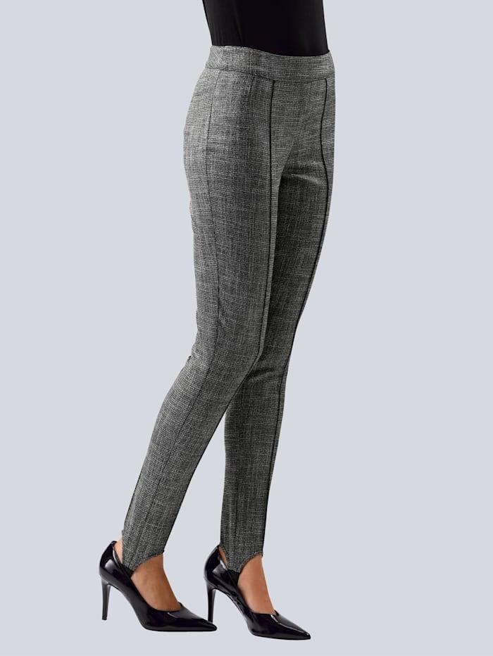 Alba Moda Hose in schmaler Passform mit Steg, Grau