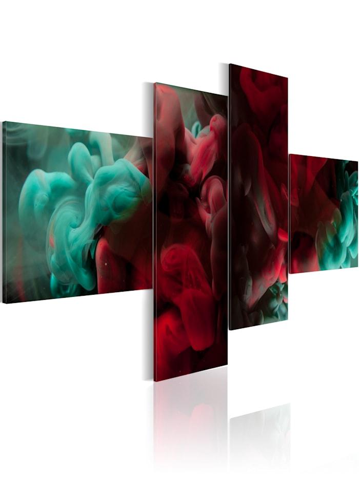 artgeist Wandbild Hot&Cold, Rot,Türkis
