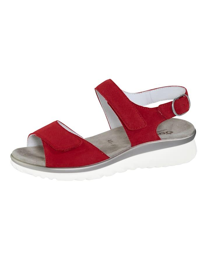 Semler Sandale mit Luftpolsterlaufsohle, Rot