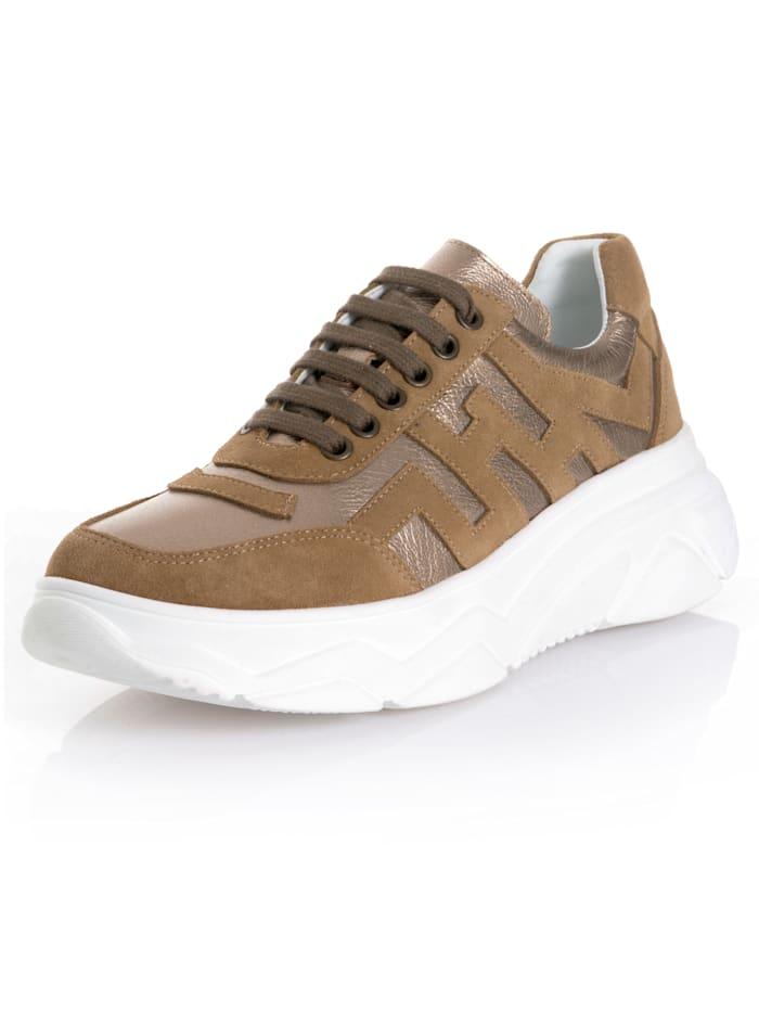 Alba Moda Sneaker im Optikenmix, Beige