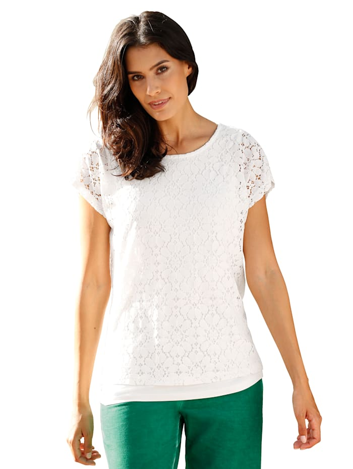 Lace top 2-in-1 look