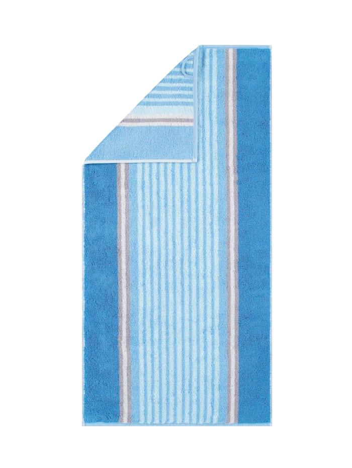 Cawö Frottierserie Florentine Streifen, Blau