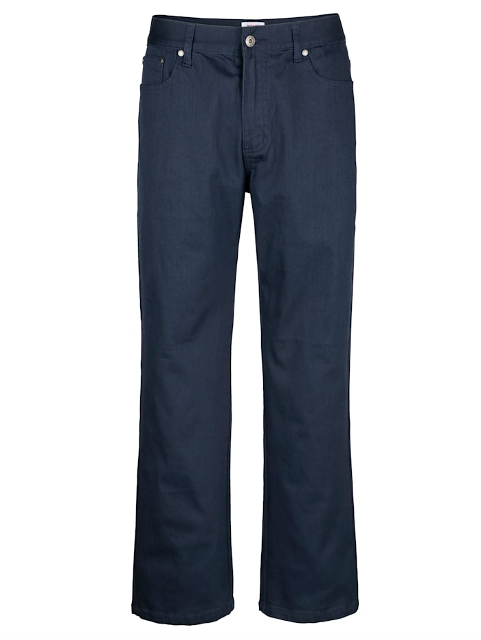 Roger Kent 5-Pocket Hose in Stretch-Qualität, Marineblau