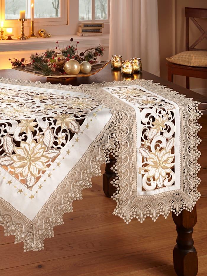 Schäfer Tischwäsche 'Erina', Creme-Weiß