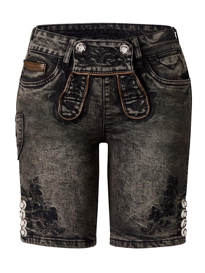 Marjo Leder & Tracht Shorts, Braun