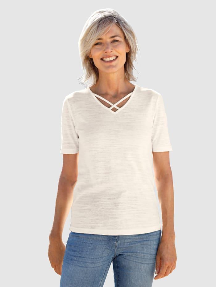 Dress In Shirt mit Ausschnittdetail, Off-white